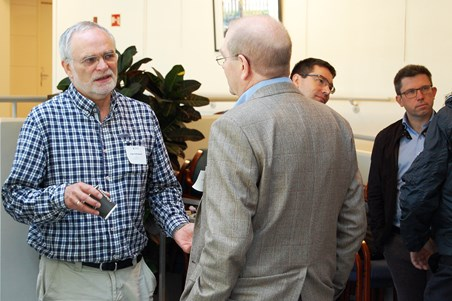 After the seminar mingling and additional discussions took place.